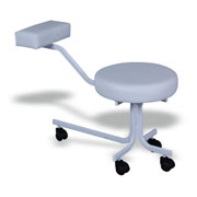 Ronald Pedicure Stool (BE11-White)